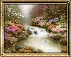 Besides Still Waters by Thomas Kinkade